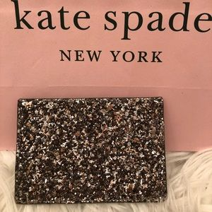 🆕Kate Spade Glitter Card Holder♠️